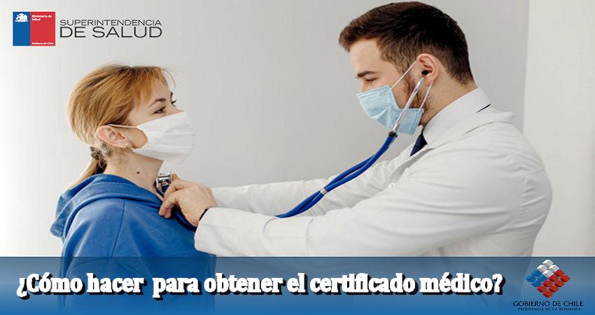 Como obtener el certificado médico