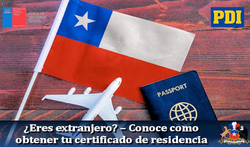 Certificado de residencia extranjeros