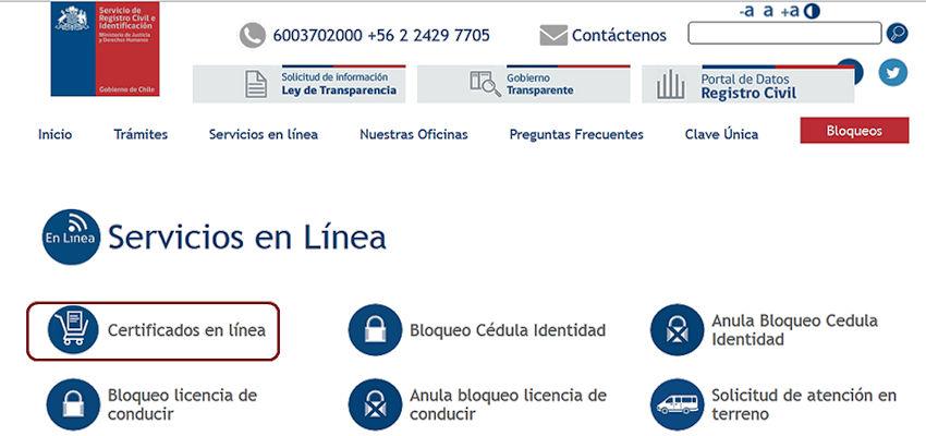 Certificados en linea