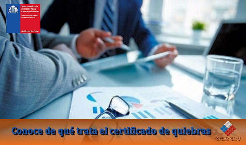 De qué trata el certificado de quiebras