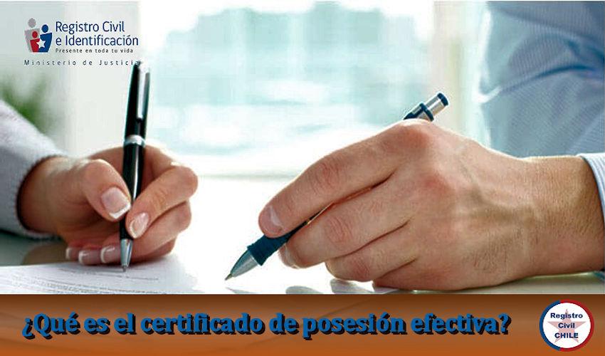 ¿Qué es el certificado de posesión efectiva?