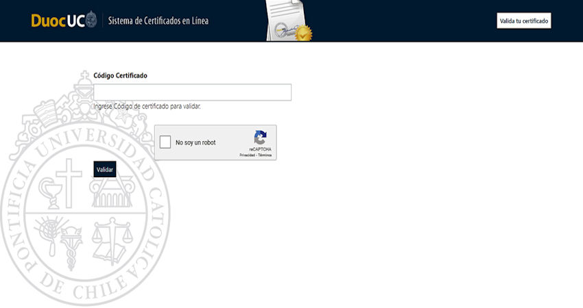 Verificación del certificado